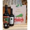 St. Bernardus Christmas + fles wijn in cadeautas